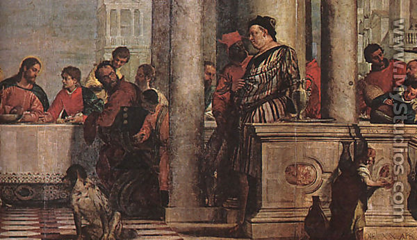 Feast in the House of Levi (detail) 1573 by Paolo Veronese ...