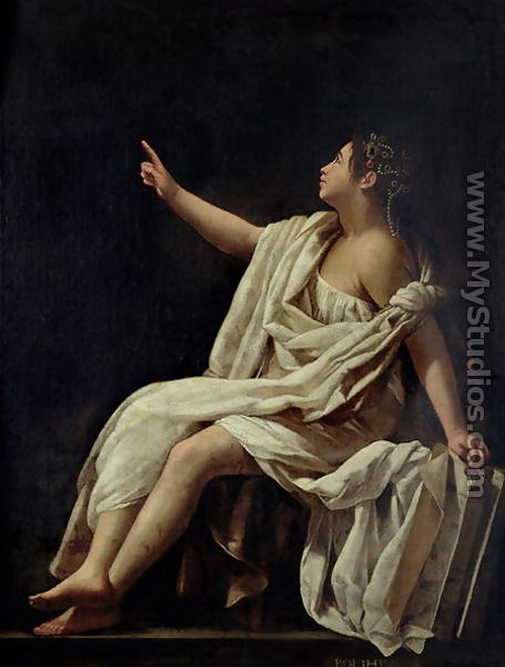 Polyhymnia, the Muse of Lyric Poetry 1620 by Giovanni Baglione ...