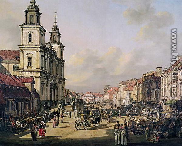 view of krakowskie przedmiescie from ulica nowy swiat warsaw 1778 by bernardo bellotto. Black Bedroom Furniture Sets. Home Design Ideas