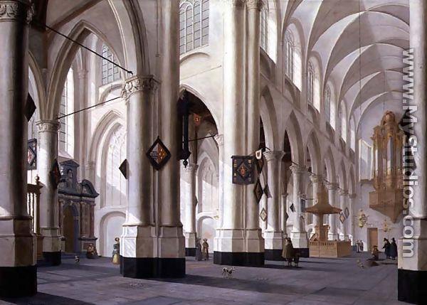 Interior of st. laurenskerk rotterdam 1655 by daniel de blieck
