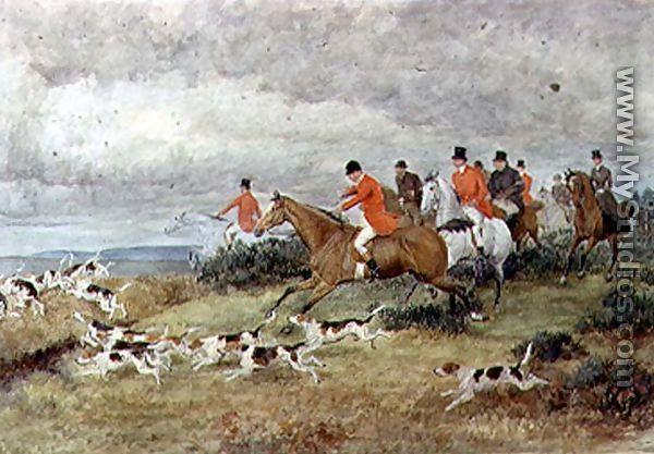 Fox Hunting In Surrey By Randolph Caldecott Mystudios Com