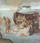 Ceiling of the Sistine Chapel: Genesis, Noah 7-9: The Flood, right view - Michelangelo Buonarroti
