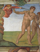Ceiling of the Sistine Chapel: Genesis, The Fall and Expulsion from Paradise - The Expulsion - Michelangelo Buonarroti