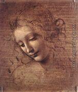 Female head (The Lady of the Dishevelled Hair) (or La Scapigliata) - Leonardo Da Vinci
