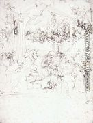 Design for the Adoration of the Magi - Leonardo Da Vinci