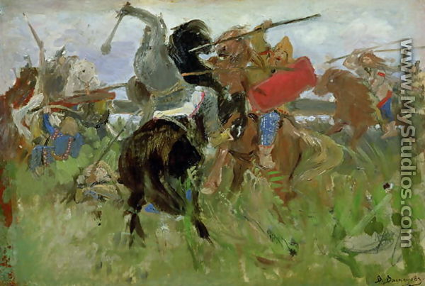 Battle Between The Scythians And The Slavonians 1879 By