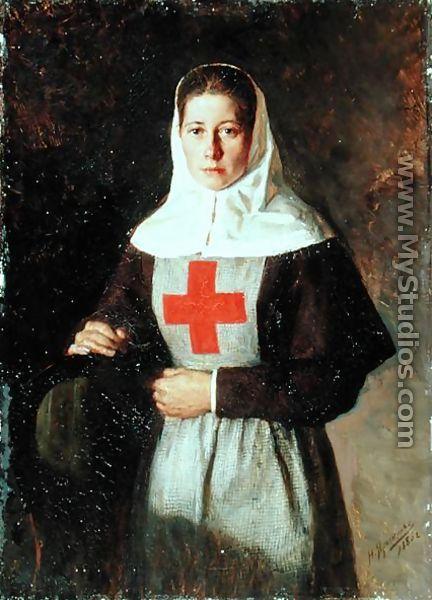 A Nurse, 1886 by Nikolai Aleksandrovich Yaroshenko - MyStudios.com