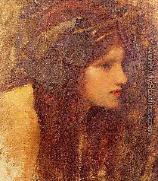 A Naiad, study 1893 - John William Waterhouse