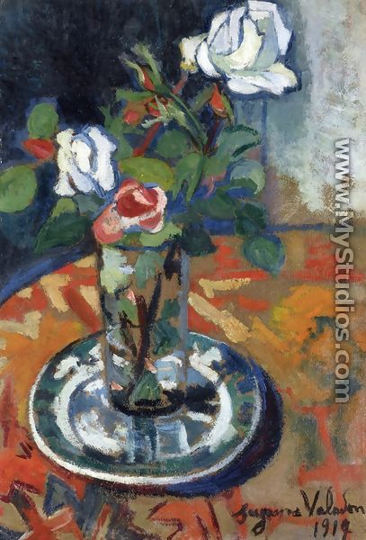 Roses in a Vase - Suzanne Valadon