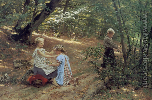 Children In The Forest By Friedrich Miess Mystudios Com