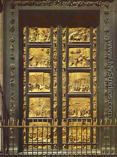 Eastern Door of the Baptistry - Lorenzo Ghiberti & Eastern Door of the Baptistry by Lorenzo Ghiberti - MyStudios.com