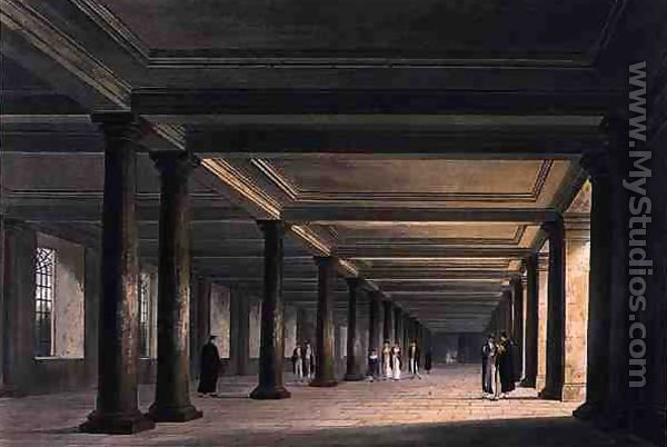 Colonnade under Trinity College Library, Cambridge, from 'The