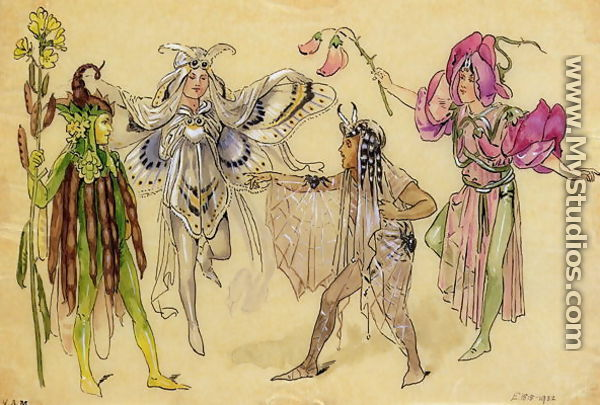 Four Fairy Costumes for A Midsummer Nights Dream produced by Robert Courtneidge at the Princes Theatre Manchester 1896-1903  sc 1 st  MyStudios & Four Fairy Costumes for A Midsummer Nights Dream produced by Robert ...
