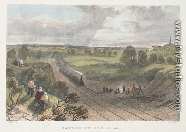 Harrow On The Hill Engraved By W Radclyffe By L Wrightson