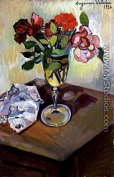 Roses in a Glass, 1926 - Suzanne Valadon