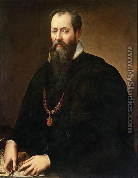 Self portrait 1566 68 by giorgio vasari for Battle of marciano mural
