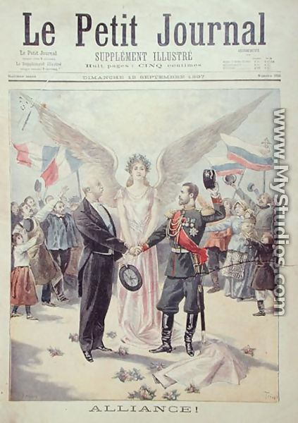The franco russian alliance front cover of le petit journal 12th september - Studio petit journal ...