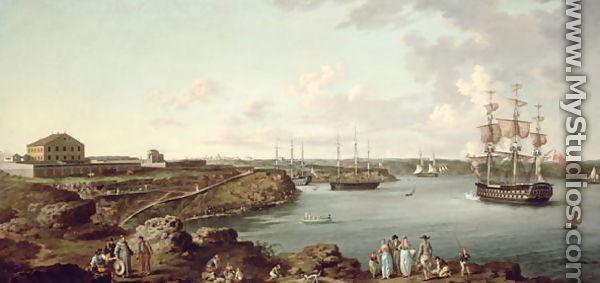 Ships of the Royal Navy at Port Mahon, Minorca by Anton ... | 600 x 283 jpeg 28kB