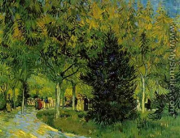 Lane in the public garden at arles a by vincent van gogh for Artiste peintre arles
