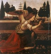 Annunciation (detail 1) 1472-75 - Leonardo Da Vinci