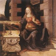 Annunciation (detail 2) 1472-75 - Leonardo Da Vinci