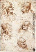 Five Caricature Heads - Leonardo Da Vinci