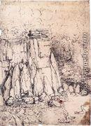 Cavern With Ducks - Leonardo Da Vinci