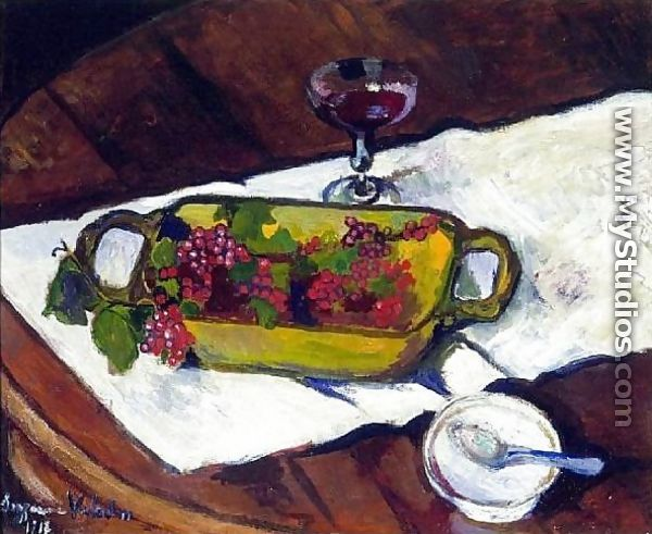 Still Life Grapes - Suzanne Valadon