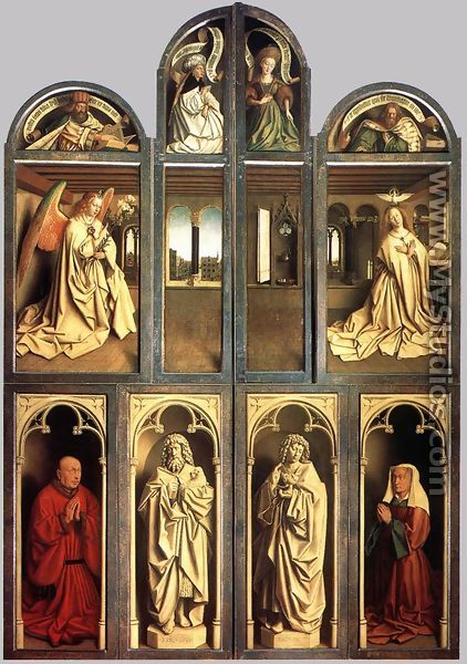The Ghent Altarpiece (wings closed) 1432 - Jan Van Eyck