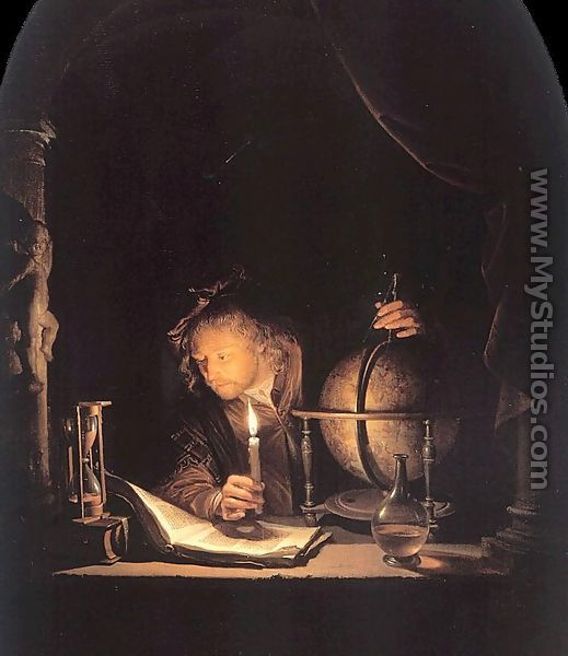 Astronomer By Candlelight. The Astronomer By Candlelight