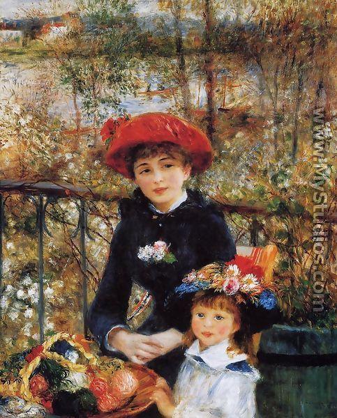 Two Sisters Aka On The Terrace - Pierre Auguste Renoir