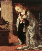 Annunciation (detail 2) 1478-82 - Leonardo Da Vinci