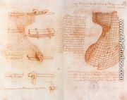 Double manuscript page on the Sforza monument c. 1493 - Leonardo Da Vinci
