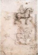 Equestrian monument 1517-18 - Leonardo Da Vinci