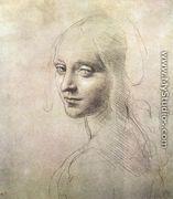 Head of a girl c. 1483 - Leonardo Da Vinci