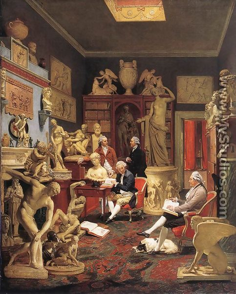 Charles Towneley in his Sculpture Gallery 1782