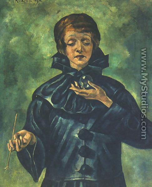 Portrait of the actress maria stronska roman kramsztyk