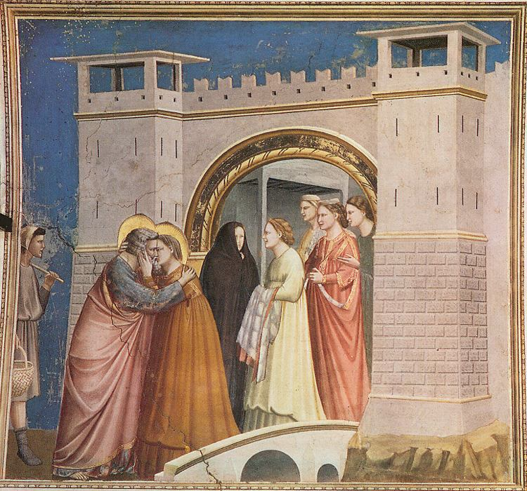 Giotto- The Meeting at the Golden Gate  Giotto- The Mee...