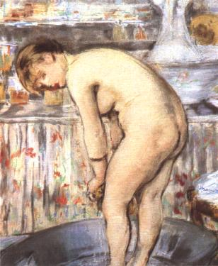 Édouard Manet. Woman in a Bathtub. 1878-79.pastel on paper 55×45cm. Musee d'Orsay