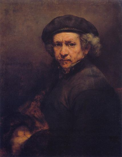 Self-Portrait with a Beret and Turned-Up Collar