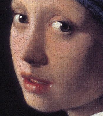 Vermeer: detail van 'Girl with a pearl earring'