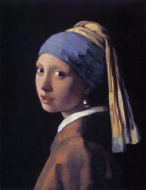 Vermeer: 'Girl with a pearl earring' (1665-1666; olie op doek; 18 x 16 inch)