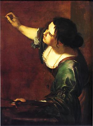 Gentileschi, Self Portrait